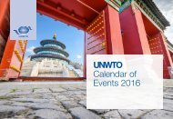 UNWTO Calendar of Events 2016