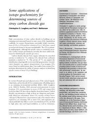 Some applications of isotope geochemistry for determining sources ...