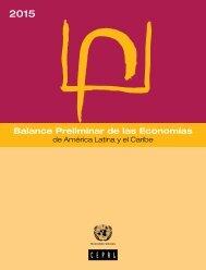 Balance Preliminar de las Economías de América Latina y el Caribe 2015