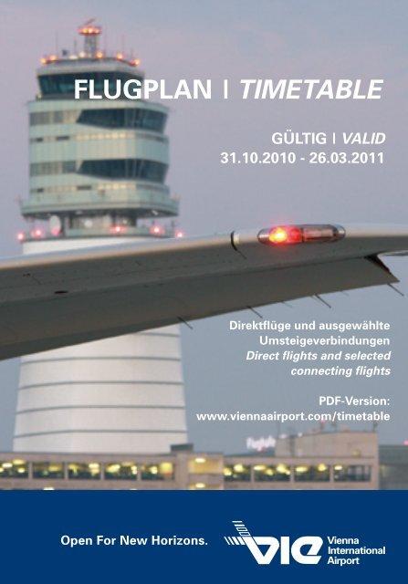 Flugplan Timetable Flughafen Wien