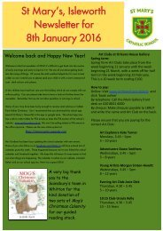 St Mary's Isleworth Newsletter for 8th January 2016