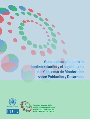 Guía operacional para la implementación y el seguimiento del Consenso de Montevideo sobre Población y Desarrollo