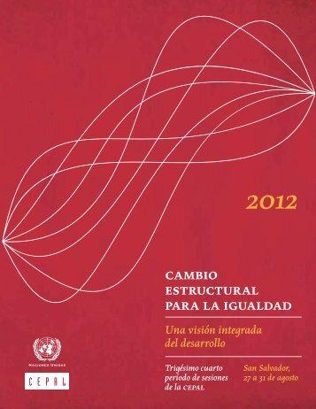 Cambio estructural para la igualdad: una visión integrada del desarrollo