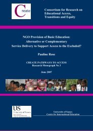 NGO provision of basic education: alternative or ... - Create