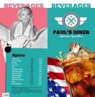 Getränkekarte Paul´s Diner