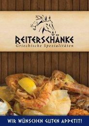 Speisekarte Reiterschänke, Schweinfurt