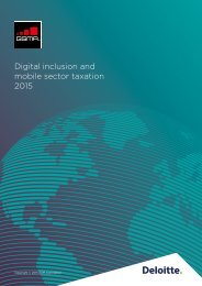 Digital inclusion and mobile sector taxation 2015