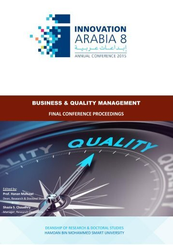 BUSINESS & QUALITY MANAGEMENT FINAL CONFERENCE PROCEEDINGS