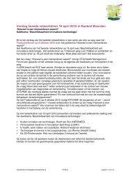 verslag netwerkdiner 16 april 2012 - STG / Health Management Forum