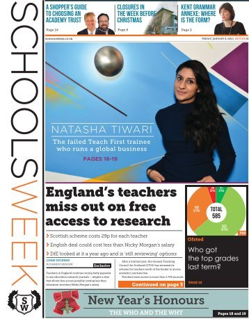 England's teachers miss out on free access to research