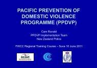PPDVP Presentation - Pacific Prevention of Domestic Violence ...