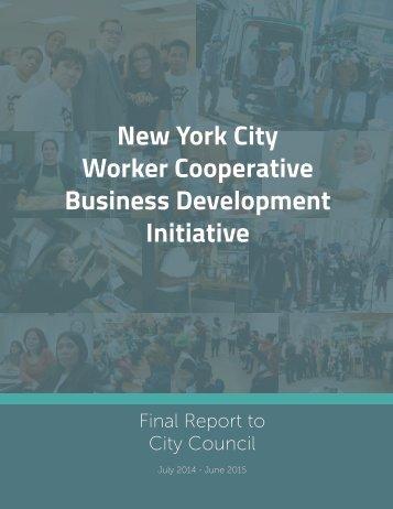 New York City Worker Cooperative Business Development Initiative