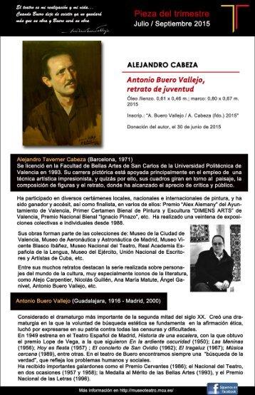 Antonio Buero Vallejo / Retrato de juventud por Alejandro Cabeza
