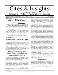 Cites & Insights