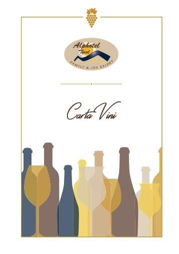 Carta Vini Alphotel Tyrol