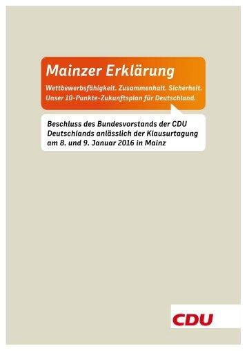 Mainzer Erklärung
