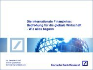 Die internationale Finanzkrise - Deutsche Bank Research