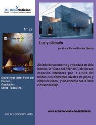 e-An N° 29 nota N° 7  Luz y silencio por el arq. Carlos Sánchez Saravia