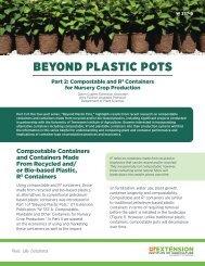BEYOND PLASTIC POTS