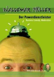Service Comedian Waldemar Müller Infomappe - Service Insiders