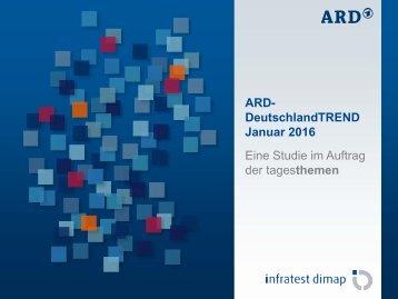 ARD- DeutschlandTREND Januar 2016 Eine Studie im Auftrag der tagesthemen