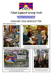 Tibet Support Group York