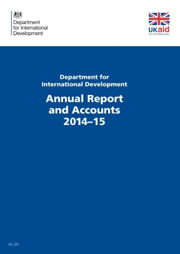 Annual Report and Accounts 2014–15