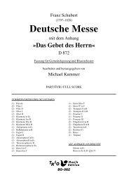 Deutsche Messe: Fassung Gemeindegesang - Demopartitur (BO-062)