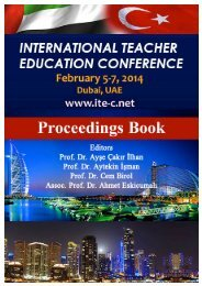 International Teacher Education Conference 2014 1