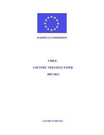 Chile Country Strategy Paper 2007-2013 - the European External ...