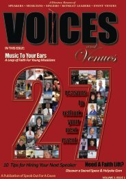 Voices and Venues Vol 1 Issue 1