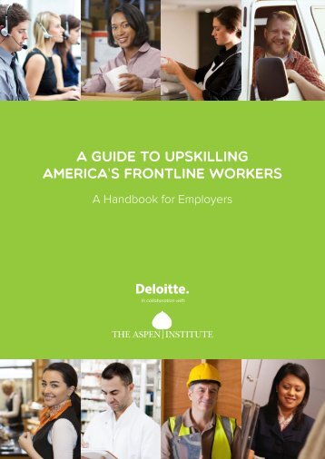 A GUIDE TO UPSKILLING AMERICA'S FRONTLINE WORKERS