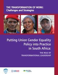 Putting Union Gender Equality Policy into Practice in South Africa