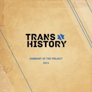 Trans.History - Summary of the project 2015