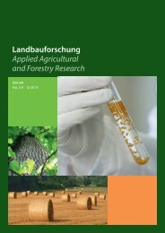 Landbauforschung Applied Agricultural and Forestry Research