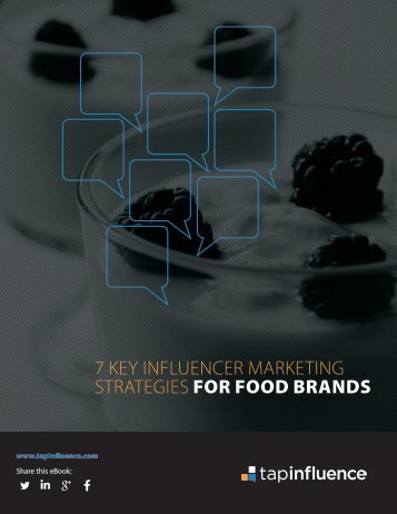 7 KEY INFLUENCER MARKETING STRATEGIES FOR FOOD BRANDS