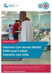Intensive Care Service Model NSW Level 4 Adult Intensive Care Units
