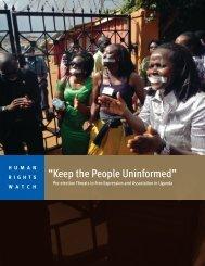 """""""Keep the People Uninformed"""""""