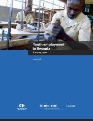 Youth employment in Rwanda