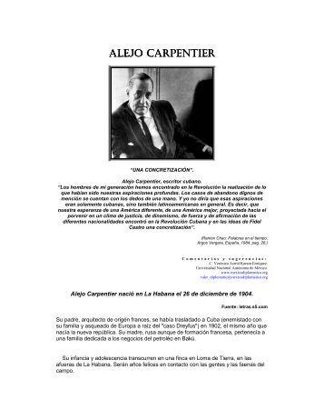 Alejo Carpentier - México Diplomático