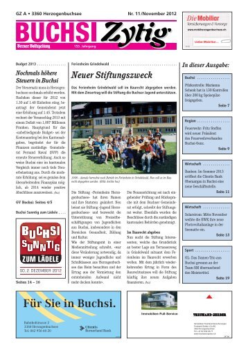 Nr. 11/November 2012 - Herzogenbuchsee
