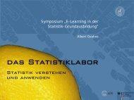 Anfänge und erste Ansätze - Neue Statistik