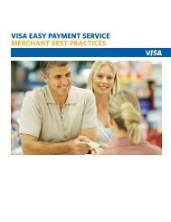 VISA EASY PAYMENT SERVICE MERCHANT BEST PRACTICES