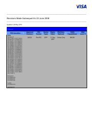 Revisions Made Subsequent to 23 June 2008 - Visa