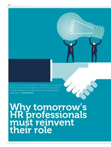 Why tomorrow's HR professionals must reinvent their role
