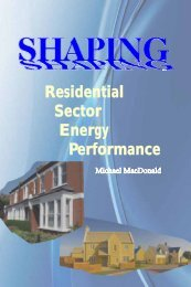 Residential Sector Energy Performance