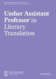 Ussher Assistant Professor in Literary Translation