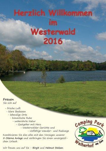 Prospekt des Camping Park Weiherhof am See