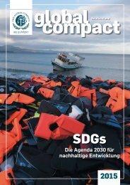 Agenda 2030 - Schwerpunktthema im Global Compact Deutschland 2015