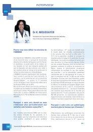 IMMUNITE ET AUTO-IMMUNITE INTERVIEW DU Dr  MOUSSAYER dans le Journal de Biologie Médicale2015